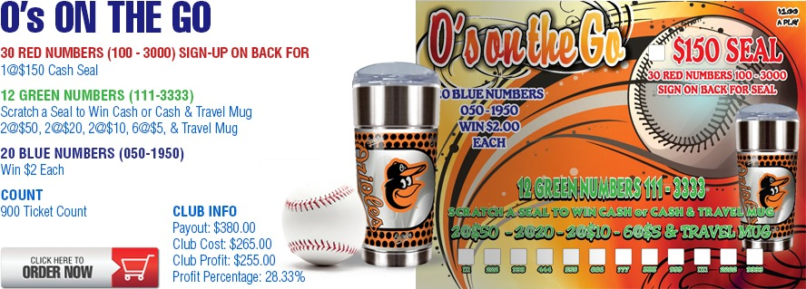 O's On The Go Cashboard