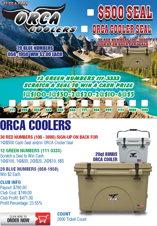 ORCA Coolers Cashboard