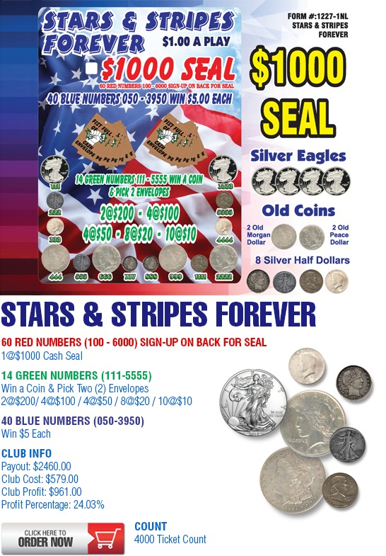 Stars and Stripes Forever Cashboard